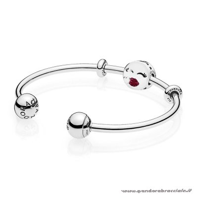Pandora Italia Cute Bacio Open Bangle Regalo Net