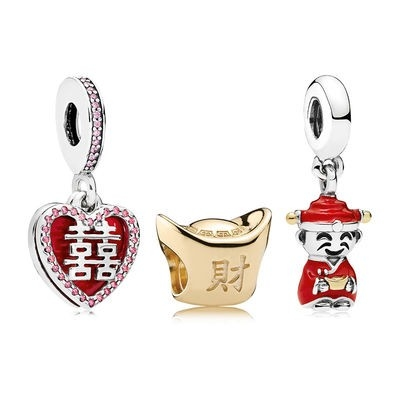 Pandora Italia Happiness Fortune And Luck Charm Pack Net
